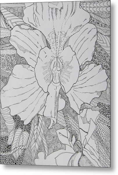 Orchid In Disguise Metal Print