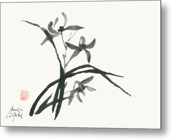 Orchid 's Grace Metal Print by Nadja Van Ghelue