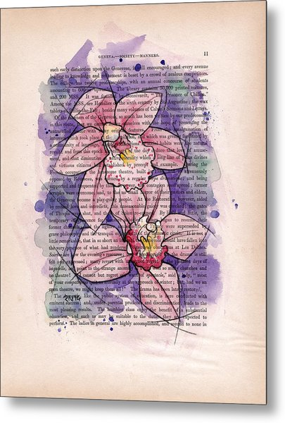 Orchid Study I Metal Print by Rudy Nagel