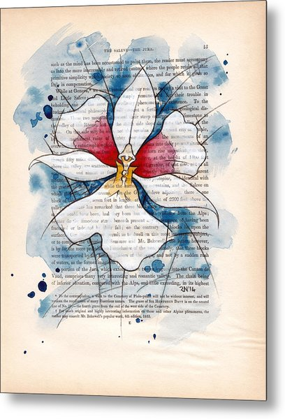 Orchid Study II Metal Print by Rudy Nagel