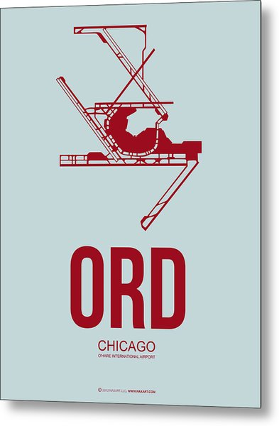 Ord Chicago Airport Poster 3 Metal Print