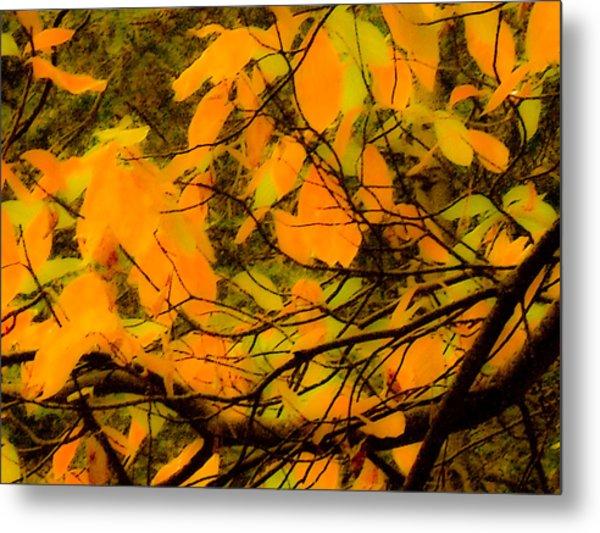 Ore Leaves Metal Print
