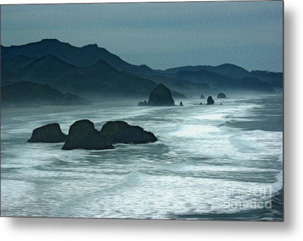 Oregon Cannon Beach Metal Print by Nur Roy