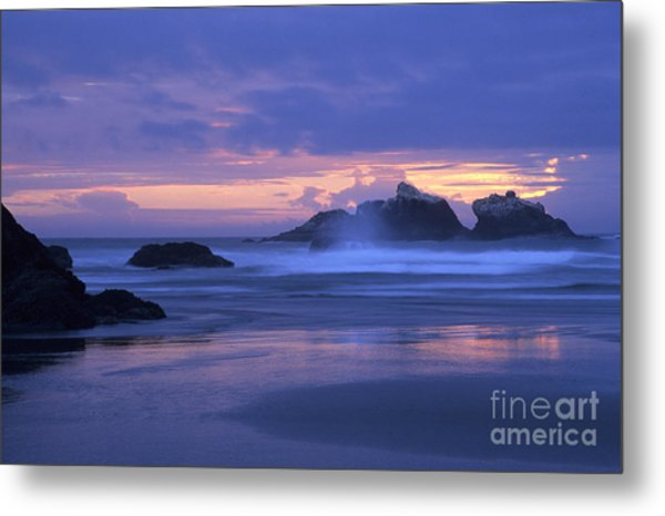 Oregon Coast Sunset Metal Print