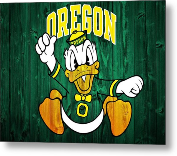 Oregon Ducks Barn Door Metal Print