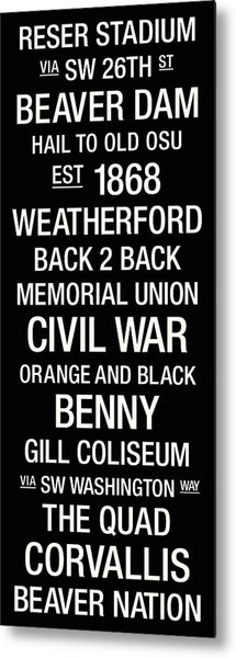 Oregon State College Town Wall Art Metal Print