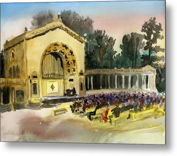 Organ Pavilion Sunset Metal Print