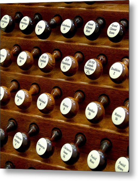 Organ Stop Knobs Metal Print