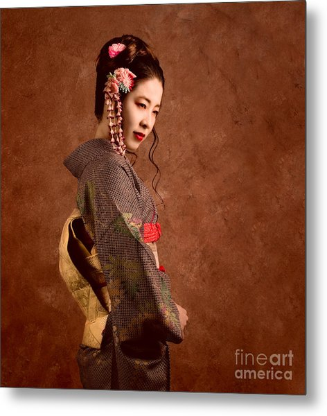Oriental Beauty Metal Print