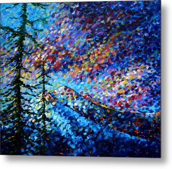 Original Abstract Impressionist Landscape Contemporary Art By Madart Mountain Glory Metal Print