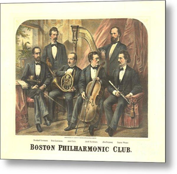 Original Boston Philharmonic Club 1875 Metal Print by Padre Art