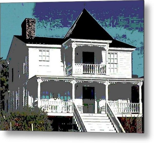Original Fine Art Digital White House North Carolina Metal Print