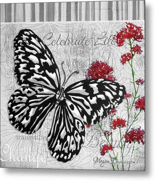 Original Inspirational Uplifting Butterfly Painting Celebrate Life Metal Print