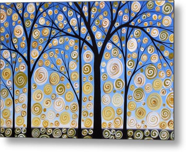 Original Landscape Tree Art Painting .. Sky Magic Metal Print by Amy Giacomelli