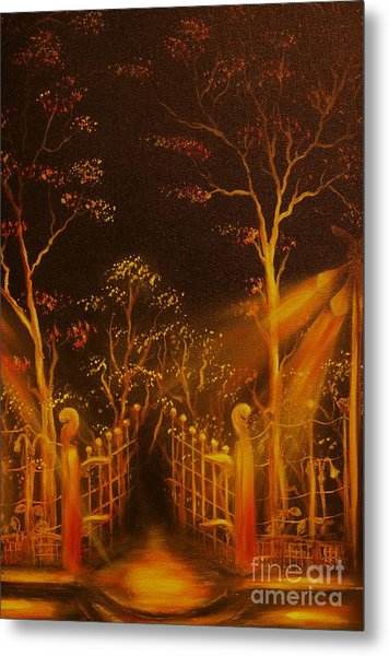 Parks Gate-original Sold- Buy Giclee Print Nr 29 Of Limited Edition Of 40 Prints  Metal Print
