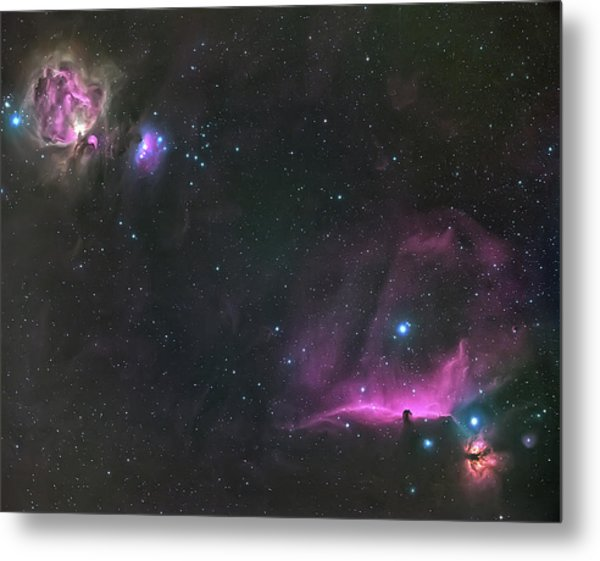 Orion Nebula And The Horsehead Metal Print