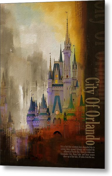 Orlando City Collage  Metal Print