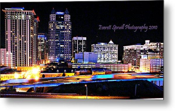 Orlando Skyline At Night Metal Print