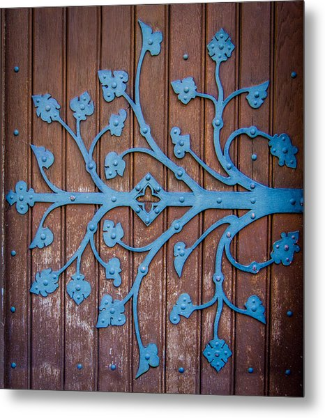 Ornate Church Door Hinge Metal Print