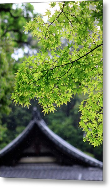 Ornately Designed Roof And Japanese Metal Print by Paul Dymond