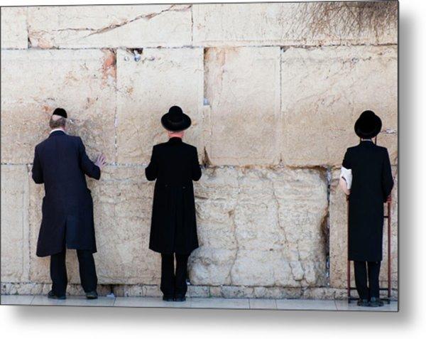 Orthodox Jewish Men Praying At The Metal Print by Nils Juenemann / Eyeem