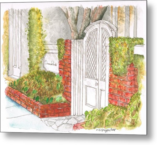 Oscar De La Renta Office Entrance In Melrose Place - West Hollywood - California Metal Print
