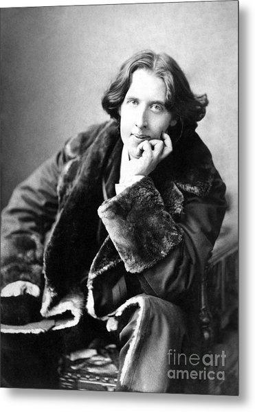 Oscar Wilde In His Favourite Coat 1882 Metal Print