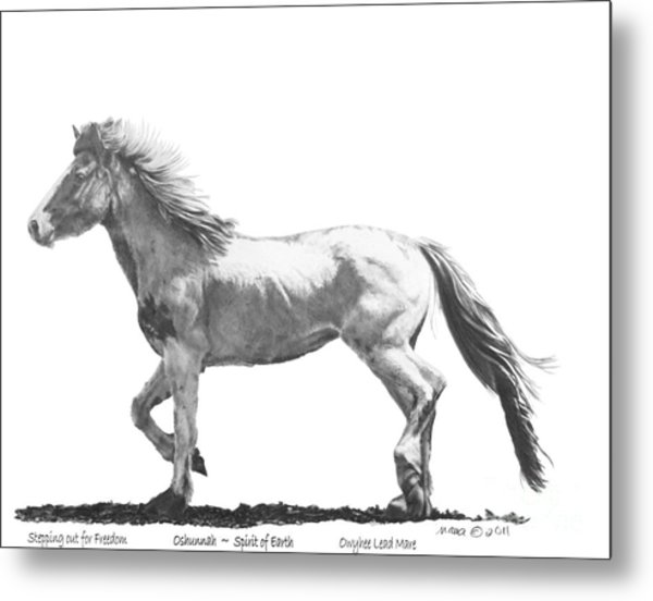Oshunnah Stepping Out For Freedom Metal Print