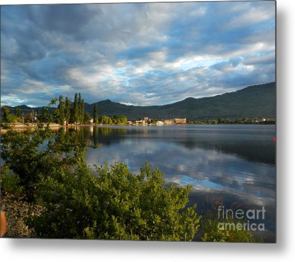 Osoyoos - Quiet Reflection Metal Print by Margaret McDermott