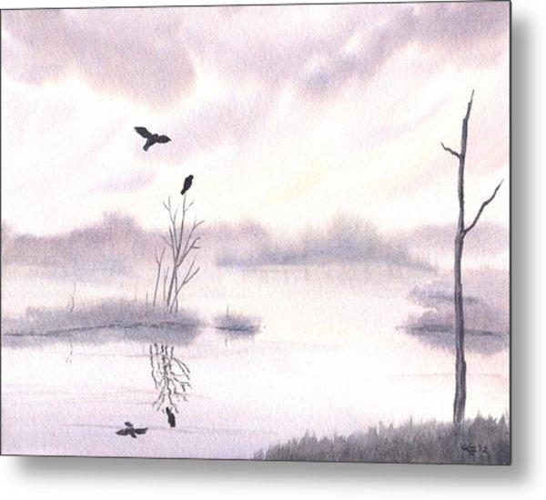 Ospreys At Dawn Metal Print by Anna Bronwyn Foley