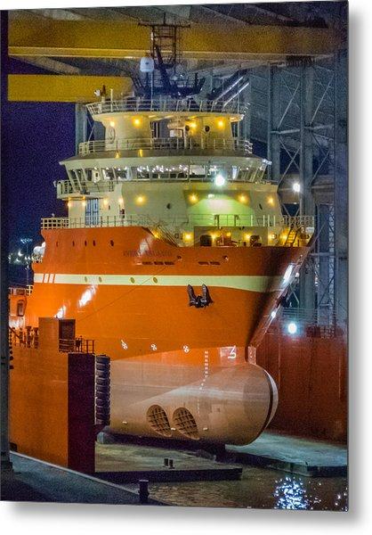 Osv In Port Fourchon Drydock Metal Print