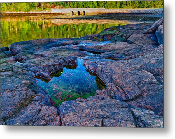 Metal Print featuring the photograph Otter Cove Bridge And Tide Pool by Jeff Sinon