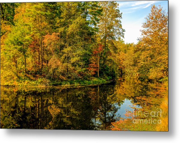 Otter Lake In The Fall Metal Print by Mark East
