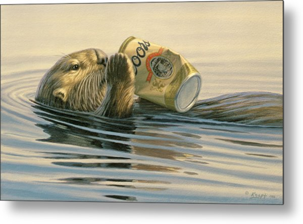 Otter's Toy Metal Print