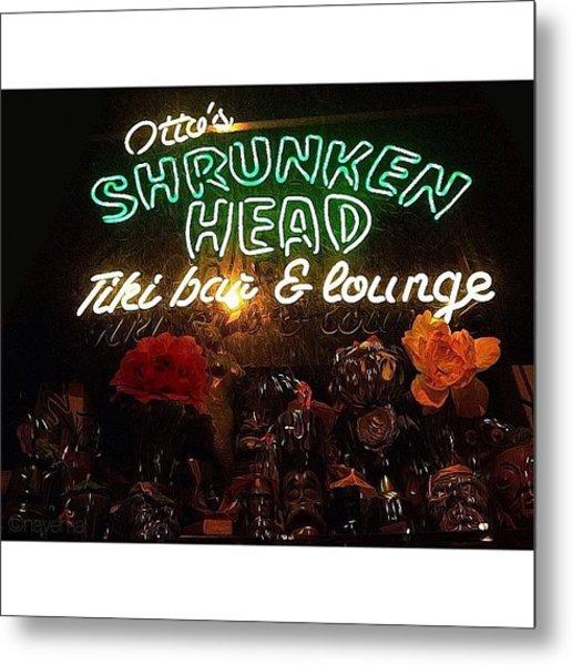 Otto's Shrunken Head Metal Print