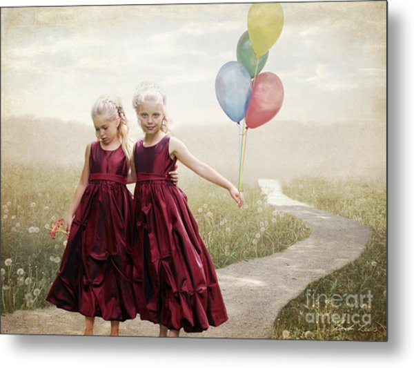 Our Hearts Say We're Friends Metal Print