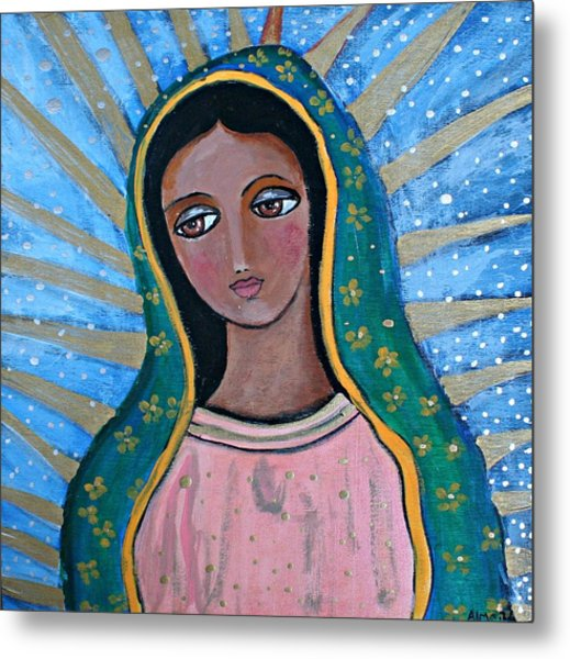 Our Lady Of Guadalupe Folk Art Metal Print