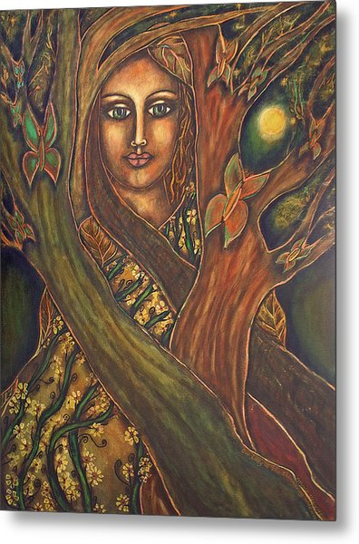 Our Lady Of The Shimmering Wildwood Metal Print by Marie Howell Gallery