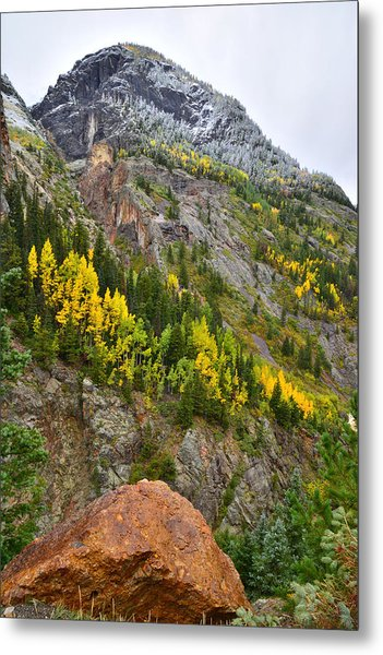 Ouray Canyon Fall Color Metal Print