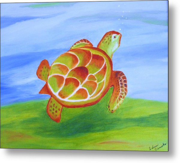 Out For A Swim Metal Print by Edna Fenske