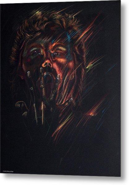 Out Of Blackness Metal Print by Christy Lifosjoe