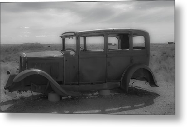 Out Of Gas Metal Print