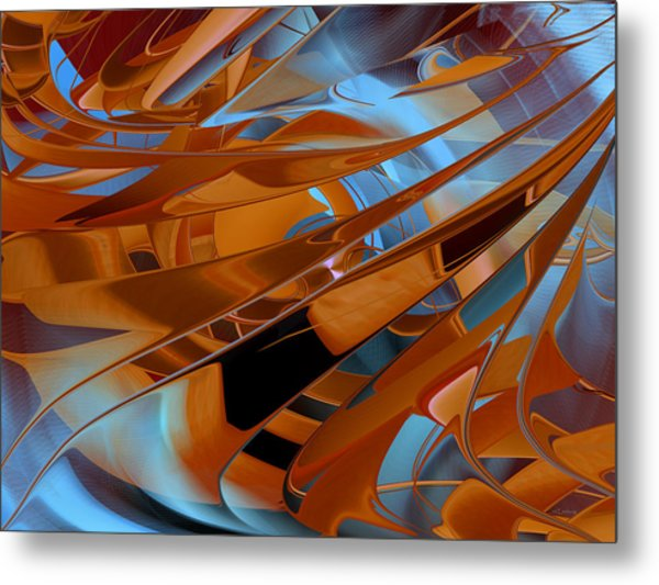Out Of The Blue - Abstract Metal Print