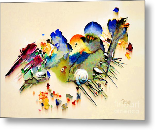 Out Of The Sea - Abstract Metal Print