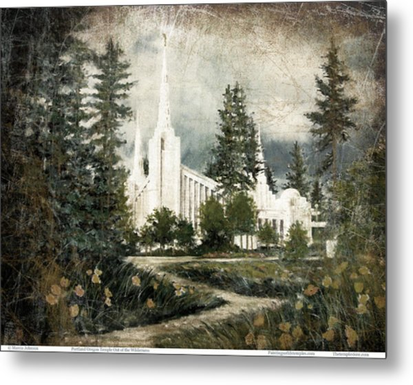 Out Of The Wilderness Portland Oregon Temple Metal Print
