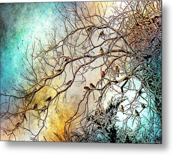 Out On A Limb In Jewel Tones Metal Print