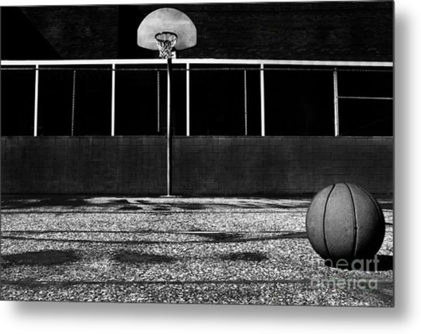 Outdoor Basketball Court Metal Print