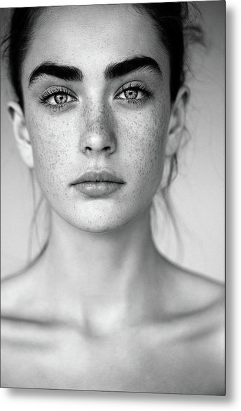 Outdoor Shot Of Young Beautiful Woman Metal Print by Coffeeandmilk