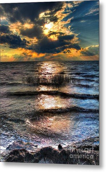 Outer Banks - Radical Sunset On Pamlico Metal Print