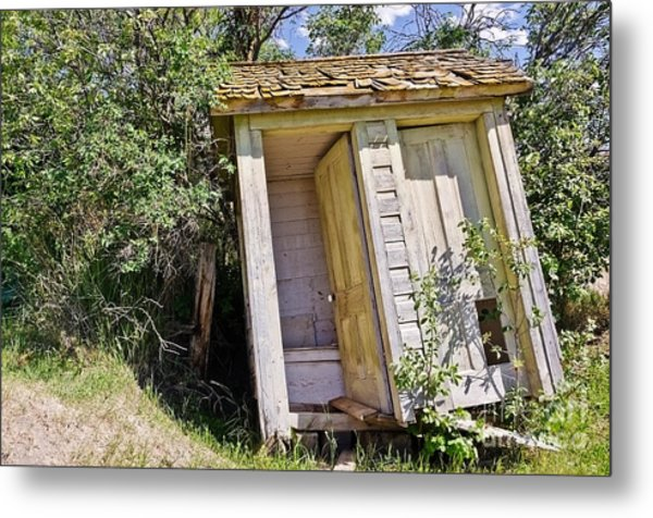 Outhouse For Two Metal Print